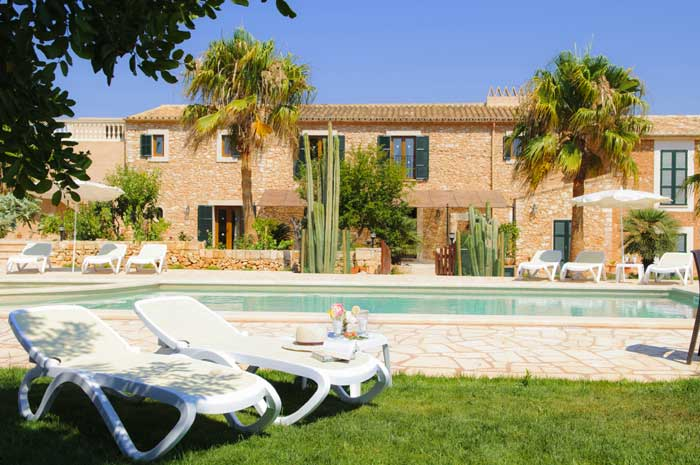 Pool und Haus 3 Finca Mallorca Südosten 12 - 14 Personen PM 6563