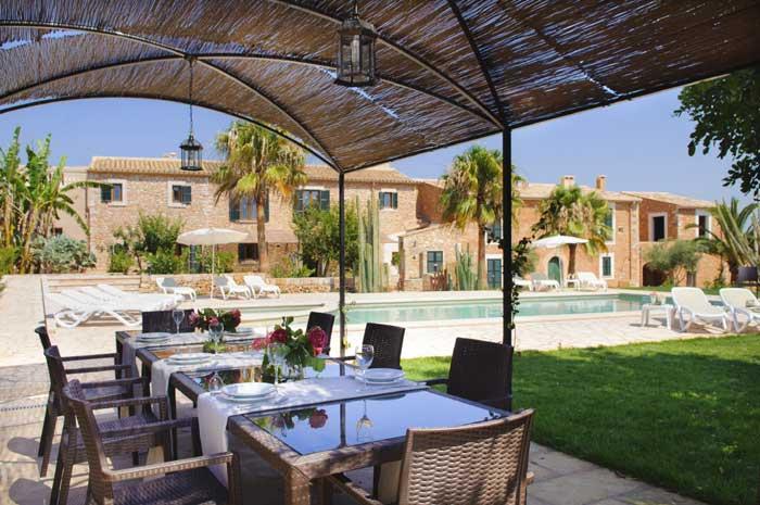 Terrasse 4 Finca Mallorca Pool Südosten 12 - 14 Personen PM 6563