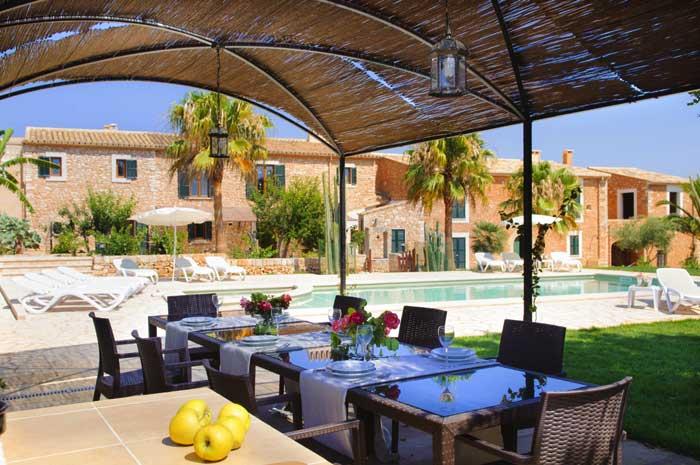 Terrasse 3 Ferienhaus Mallorca Pool Südosten 12 - 14 Personen PM 6563