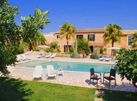 Großer Pool Finca Mallorca Südosten für 12 - 14 Personen PM 6563