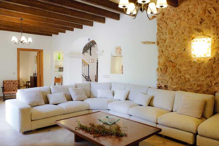 Wohnraum 3 Poolblick Finca Mallorca Südosten 12 - 14 Personen PM 6563