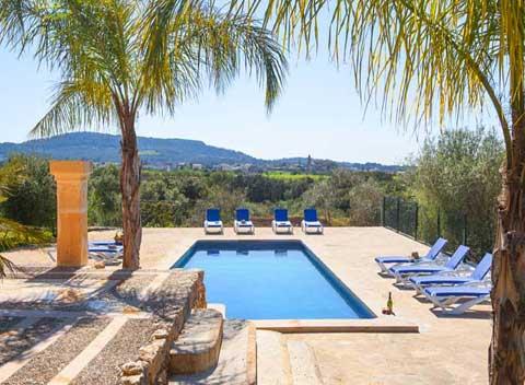 Poolblick Finca Mallorca Südosten für 10 Personen PM 6564