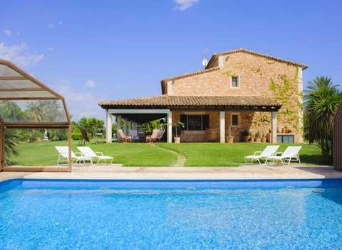 Poolblick Finca Mallorca Süden für 10 Personen PM 6565