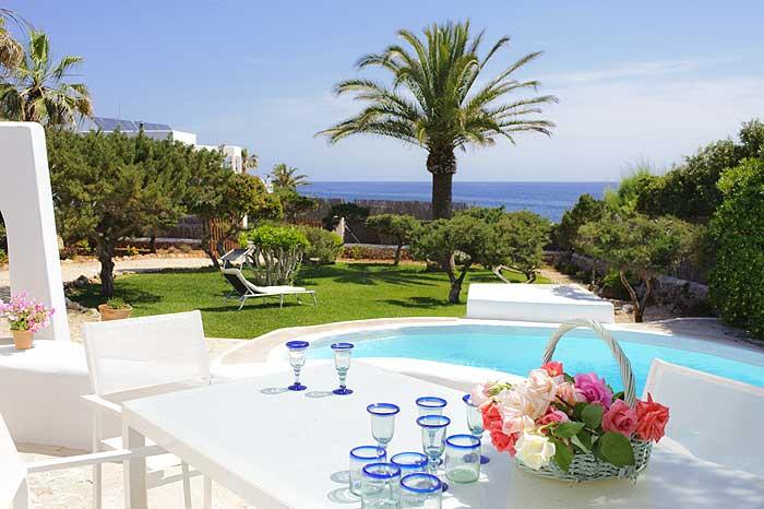 Pool und Meerblick Ferienhaus Mallorca Südosten PM 6569
