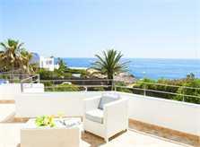 Terrasse und Meerblick Ferienhaus Mallorca mit Pool Südosten PM 6569