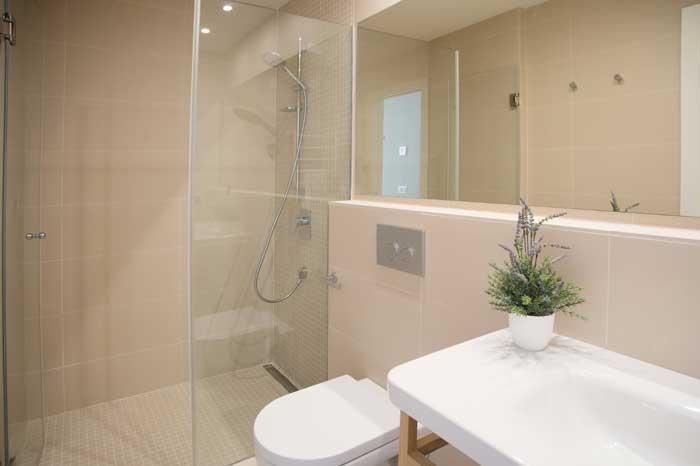 Modernes Badezimmer en suite Finca Mallorca mit Pool für 10 Personen PM 6572