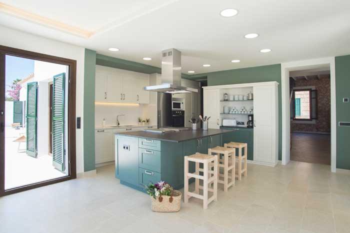 Moderne Küche Finca Mallorca mit Pool für 10 Personen PM 6572