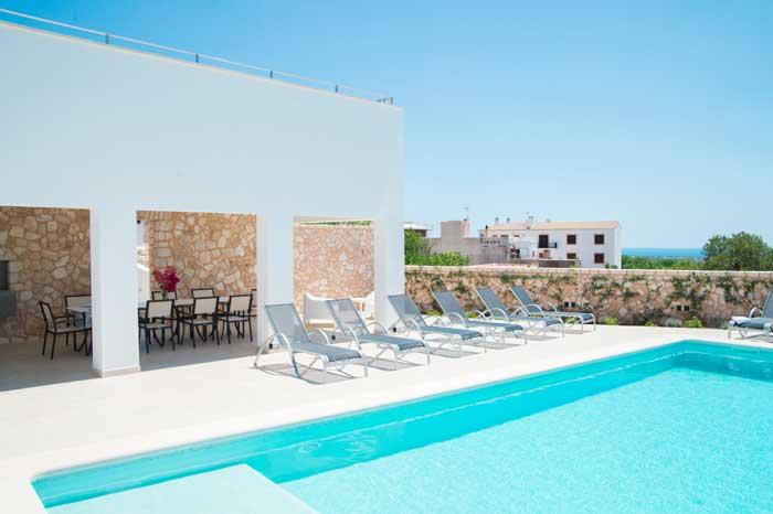 Terrasse und Pool Finca Mallorca 10 Personen PM 6572