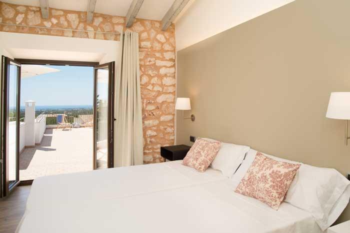 Schlafzimmer 3 mit Klimaanlage Finca Mallorca mit Pool für 10 Personen PM 6572