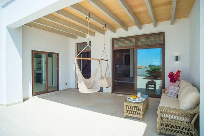 Terrasse Finca Mallorca mit Pool für 10 Personen PM 6572