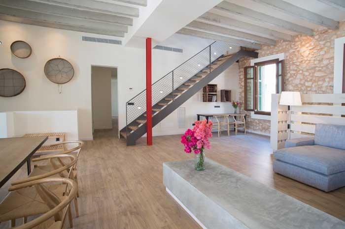 Moderner Wohnraum 2 Ferienhaus Mallorca mit Pool für 10 Personen PM 6572