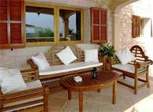 Terrasse 3 Finca Mallorca 12 Personen PM 658