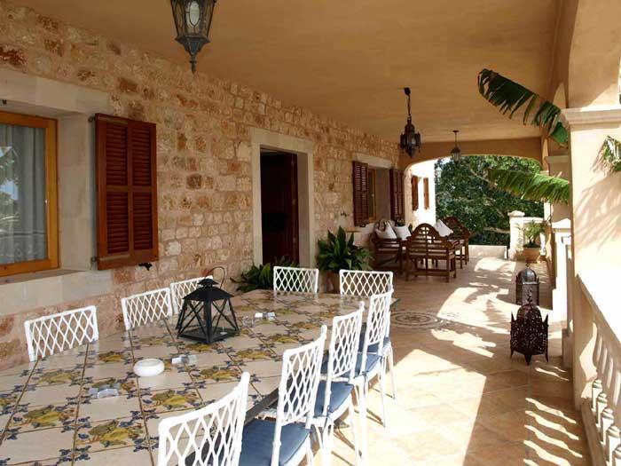 Terrasse 4 Finca Mallorca mit Pool 12 Personen PM 658