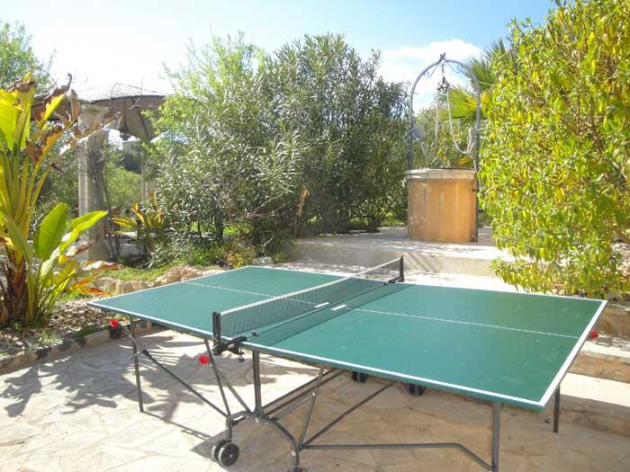Tischtennis Finca Mallorca mit Pool für 12 Personen PM 658