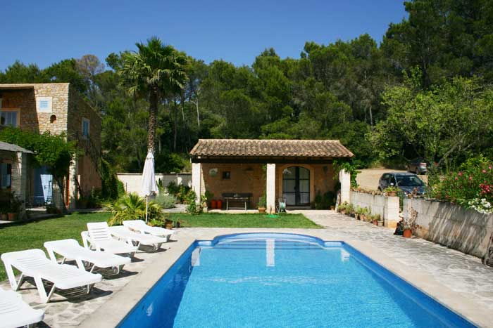 Poolblick Finca Mallorca Pool Felanitx 8 Personen PM 675