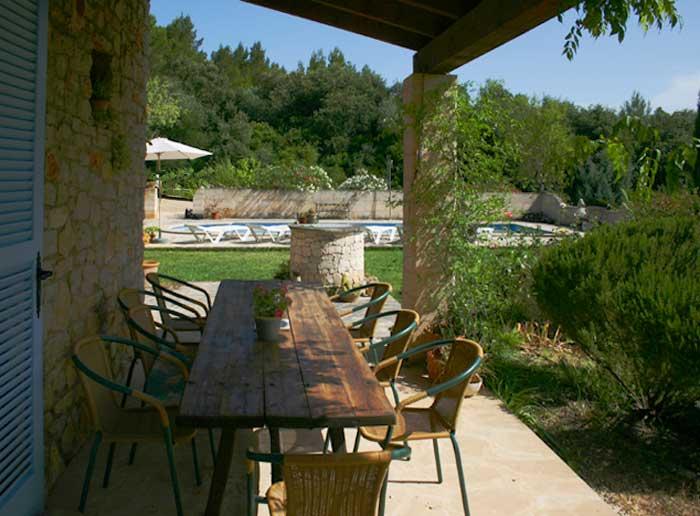 Terrasse 2 Finca Mallorca Pool Felanitx 8 Personen PM 675