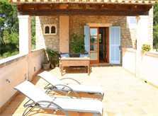 Obere Terrasse Finca Mallorca Pool Felanitx 8 Personen PM 675