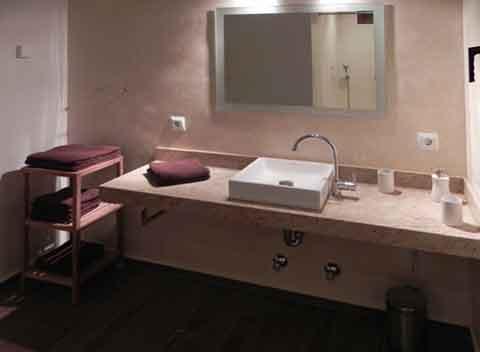 Modernes Badezimmer Komfortfinca mit großem Pool 8-10 Personen Klimaanlage Internetzugang  PM 678