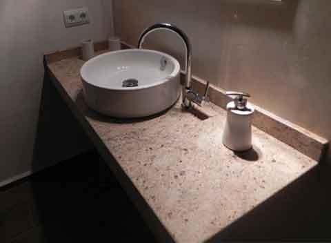Badezimmer in modernem Design Exklusives Ferienhaus Mallorca mit Pool Klimaanlage und Internet PM 678