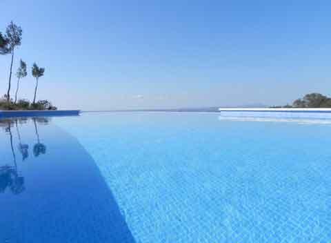 Poolblick Exquisites Ferienhaus Mallorca mit Pool 8 - 10 Personen Internetanschluss Klimaanlage Mallorca Südosten PM 678