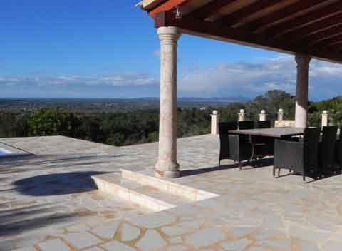 Blick von der Terrasse Moderne Finca Mallorca mit Pool 8 - 10 Personen  PM 678