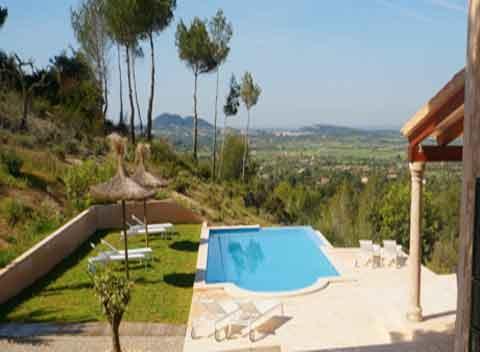 Grandioser Blick von der Finca Komfortables Ferienhaus mit Pool  Mallorca 8 - 10 Personen PM 678
