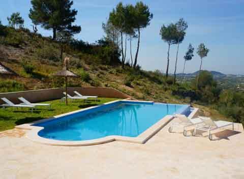 Poolblick Große Finca Mallorca 8-10 Personen Wlan Klimaanlage PM 678