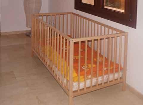 Kinderbett Exquisite Finca Mallorca mit Pool Klimaanlage Wlan Südostküste Mallorca PM 678
