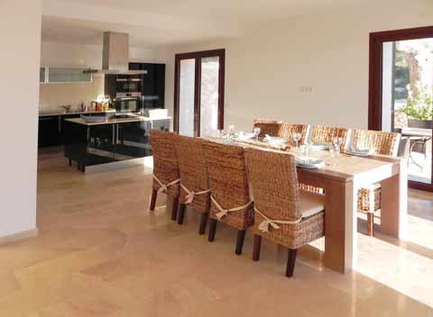 Essplatz Offener Wohnbereich Ferienhaus Mallorca für 8-10 Personen Klimaanlage Pool  Mallorca Südostküste Felanitx Manacor Portocolom PM 678