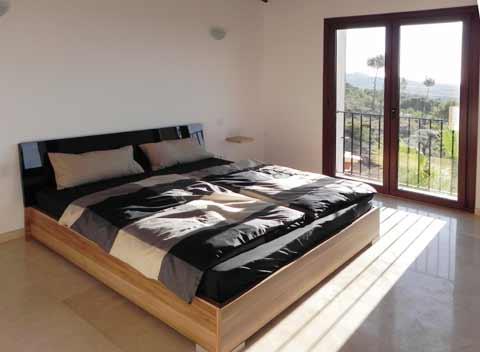 Doppelzimmer mit grandiosem Panoramablick Moderne Finca Mallorca mit Pool 8-10 Personen Felanitx Portocolom Südosten Mallorca PM 678
