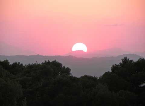 Sonnenuntergang Großes Ferienhaus Mallorca Südosten Felanitx Portocolom Manacor PM 678