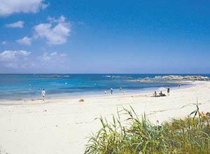 Blick auf den Strand Formentera