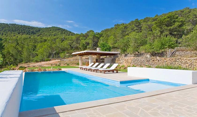 Pool und Blick Finca Ibiza für 10 Personen IBZ 15