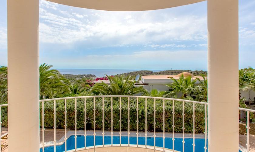 Balkon Villa Ibiza Cala Tarida IBZ 17