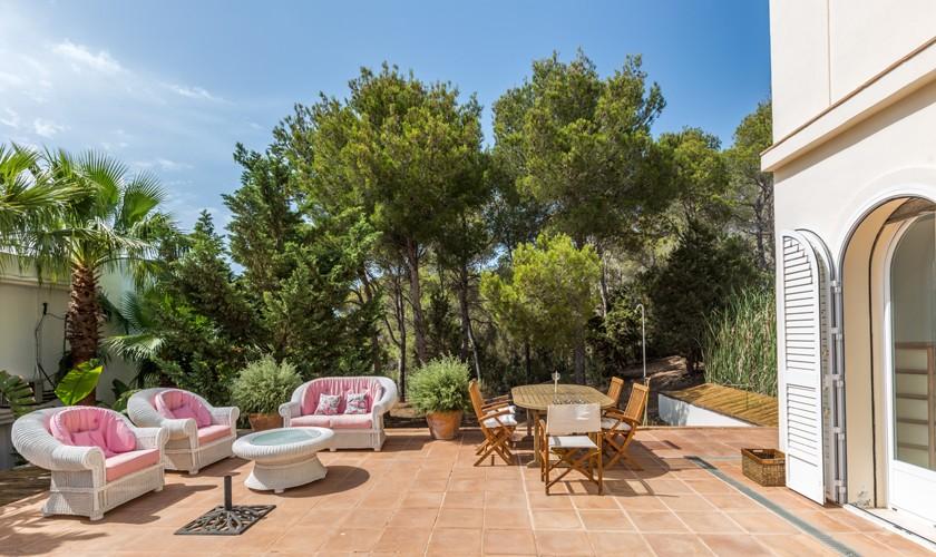 Terrasse Villa Ibiza für 4-5 Personen IBZ 17