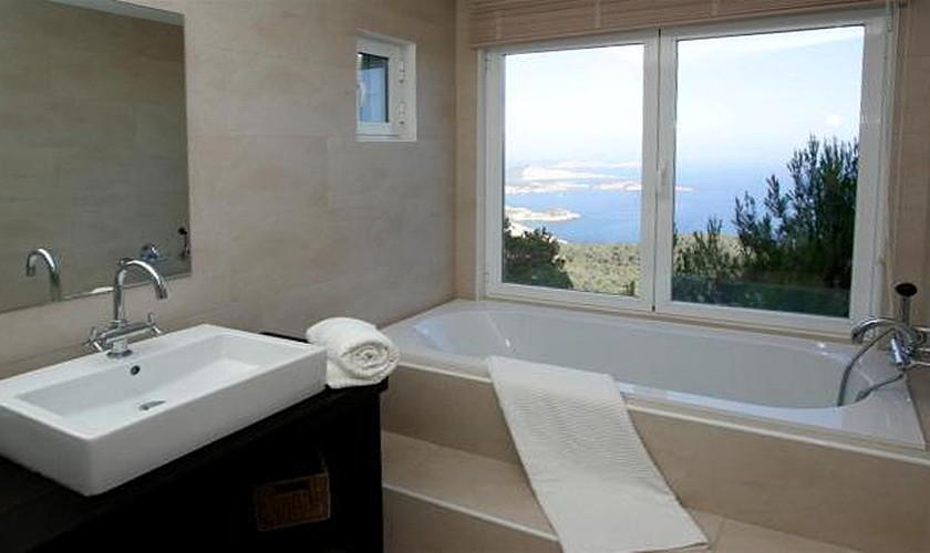 Badezimmer Villa Ibiza mit Meerblick IBZ 19