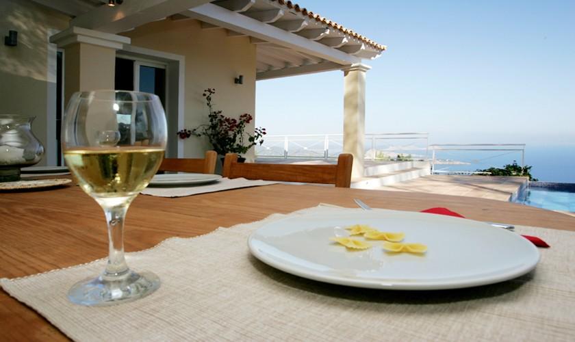 Terrasse, Pool und Meerblick Villa Ibiza IBZ 19