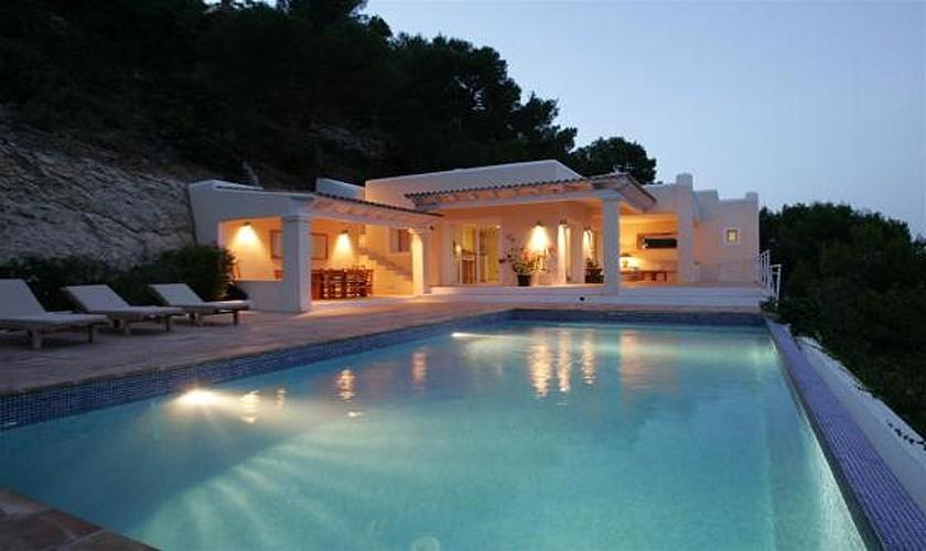 Pool und Villa Ibiza Meerblick IBZ 19