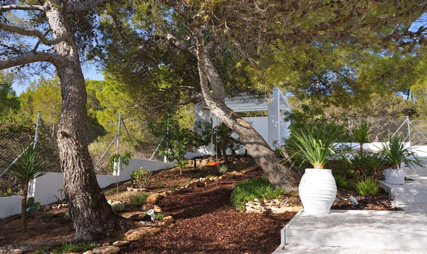 Garten Ferienvilla Ibiza Meerblick IBZ 20