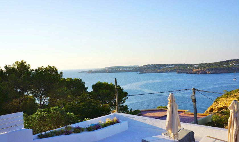 Terasse und Meerblick Villa Ibiza für 12 - 13 Personen IBZ 20