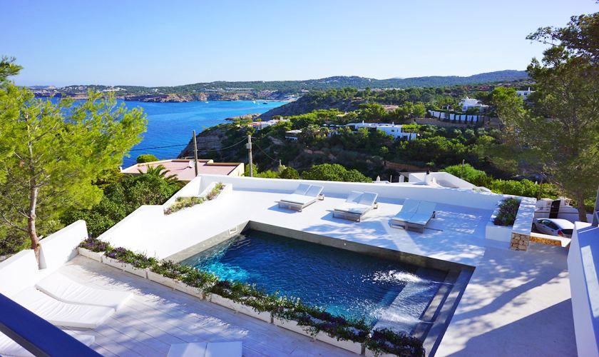 Pool und Meerblick Villa Ibiza für 12 - 13 Personen IBZ 20