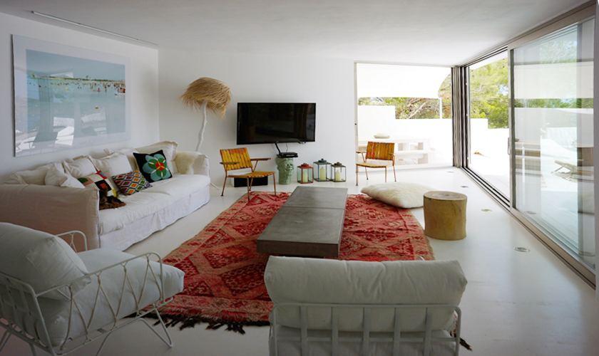 Wohnraum Luxusvilla Ibiza für 12 - 13 Personen IBZ 20