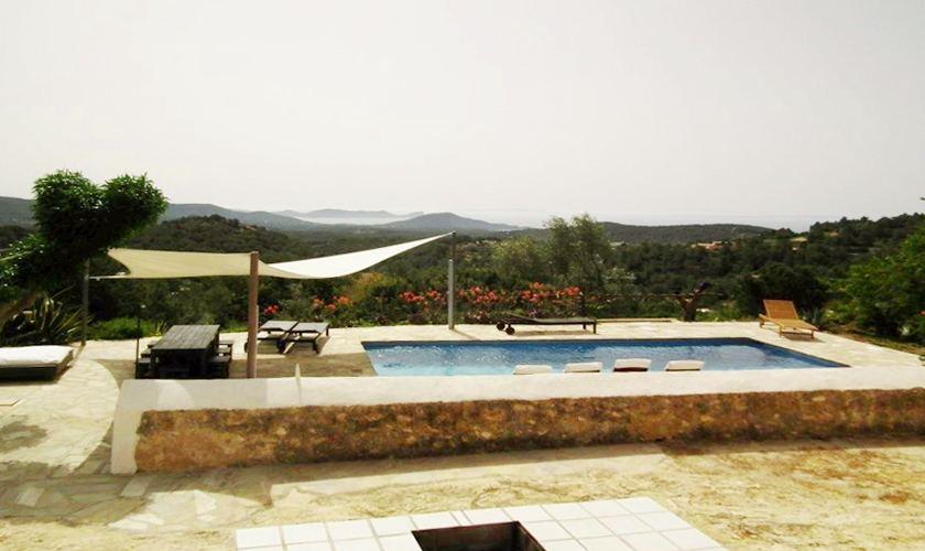 Pool und Blick Finca Ibiza IBZ 21