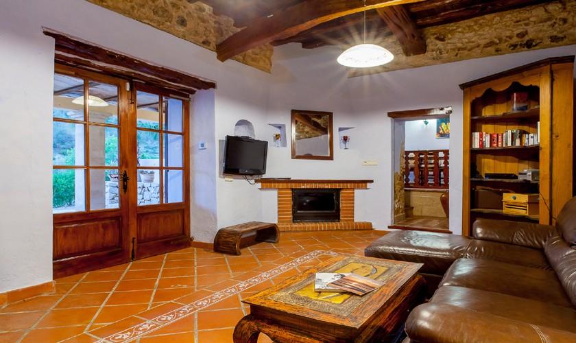 Wohnraum Ferienfinca Ibiza Südwesten IBZ 22