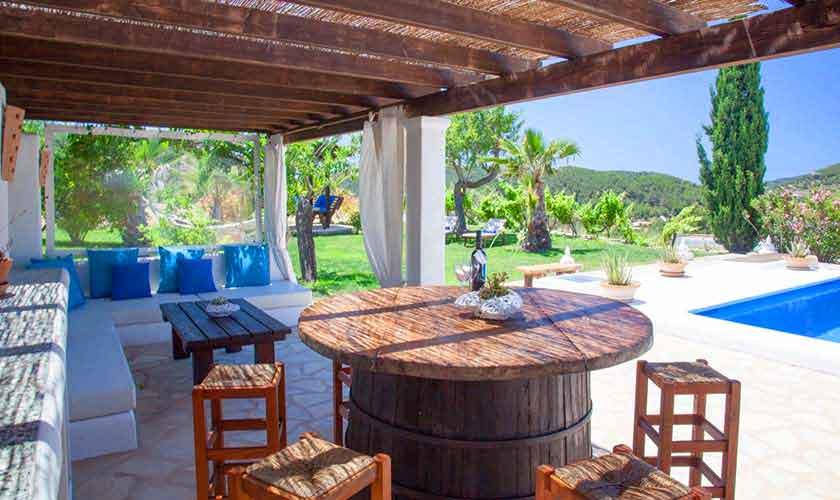 Terrasse Finca Ibiza für 8 Personen IBZ 23
