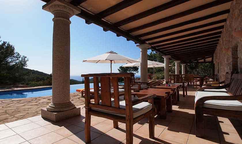 Terrasse Villa Ibiza 10 Personen IBZ 24