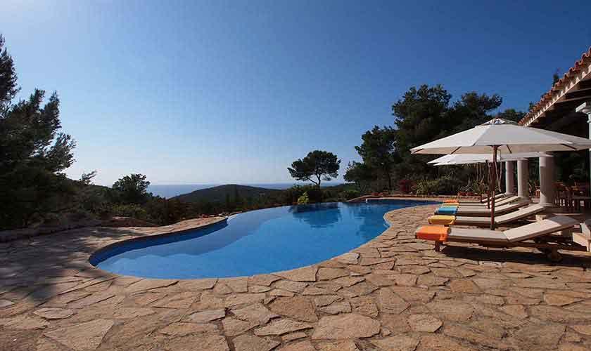 Pool und Terrasse Villa Ibiza 10 Personen IBZ 24