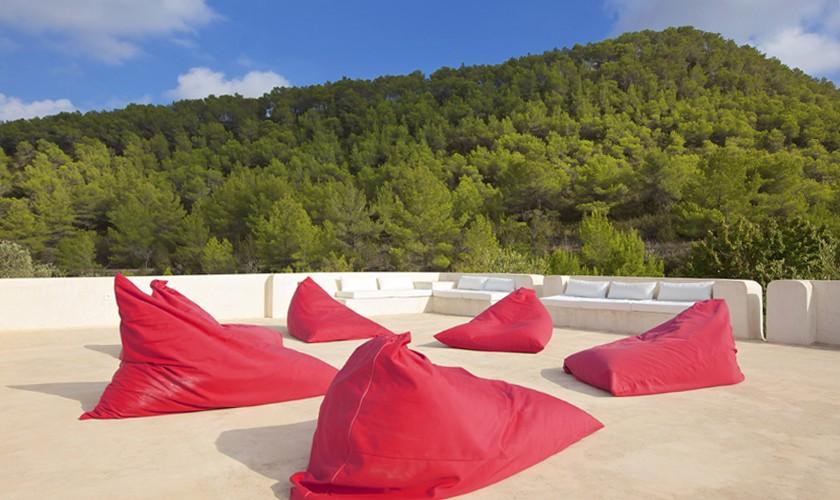 Terrasse Ferienfinca Ibiza 10 Personen IBZ 25