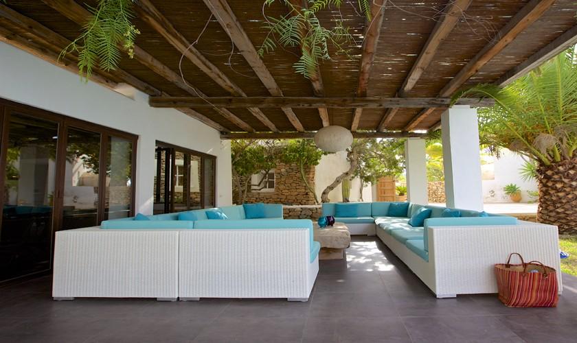 Terrasse Exklusive Finca Ibiza 10 Personen IBZ 25