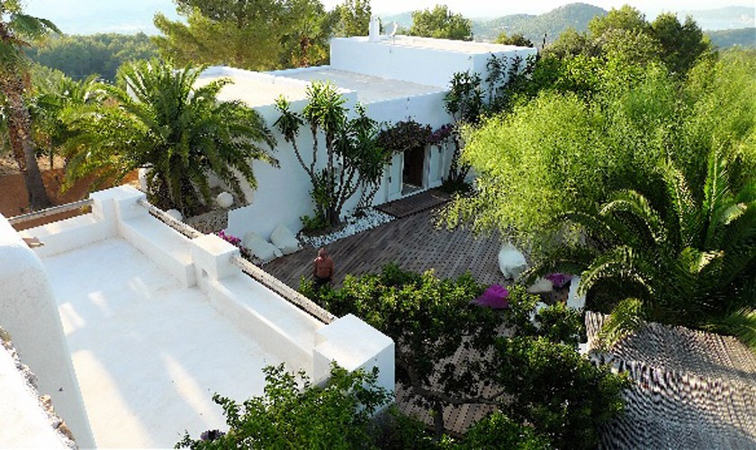 Blick auf die Ferienfinca Ibiza 10 Personen IBZ 25